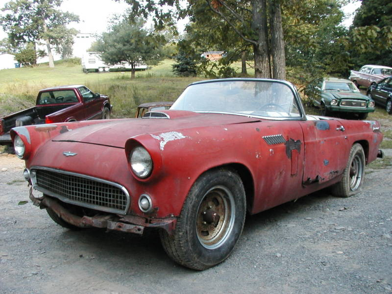 56 Ford Thunderbird For Sale http://carsinweeds.com/ford/1956-ford-thunderbird-for-4999